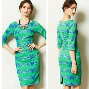 Anthropologie Tracy Reese Emerald City dress
